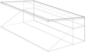 small stands with two storey lean-to technical drawing