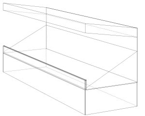 small stands raised technical drawing