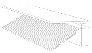 cantilever with box zone technical drawing