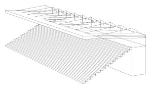 external cantilever technical drawing