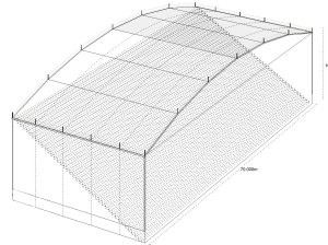 free span roof technical drawing