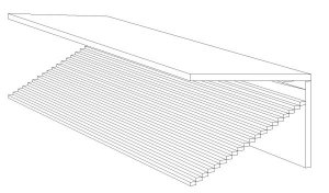 internal cantilever technical drawing