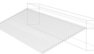 simple cheap terrace technical drawing